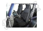 Pokrowce przednich foteli czarne 76-90 Jeep CJ/Wrangler