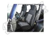 Pokrowce przednich foteli czarno/szare 76-90 Jeep CJ/Wrangler