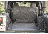 Wykładzina C3 Cargo Cover, 2-drzwiowy z sbwooferem; 07-14 Jeep Wrangler JK