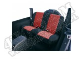 Pokrowiec tylnej kanapy czarno/czerwony 80-95 Jeep CJ/Wrangler