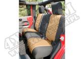 Pokrowiec tylnej kanapy czarny/tan 07-15 Jeep Wrangler Unlimited JK