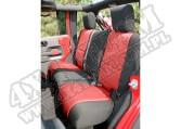 Pokrowiec tylnej kanapy czarno/czerwony 07-15 Jeep Wrangler JK