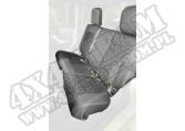 Pokrowce Elite Ballistic, tył, czarne, 4 Dr; 07-10 Wrangler JKU