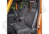 Zestaw pokrowców, czarny; 07-10 Jeep Wrangler JK, 2 drzwiowy