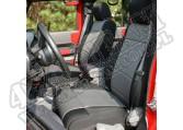 Zestaw pokrowców, czarny/szary; 07-10 Jeep Wrangler Unlimited JKU, 4 drzwiowy
