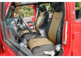 Zestaw pokrowców, czarny/Tan; 11-18 Jeep Wrangler JK, 2 drzwiowy