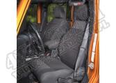 Zestaw pokrowców, czarny; 11-18 Jeep Wrangler Unlimited JKU, 4 drzwiowy