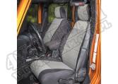 Zestaw pokrowców, czarny/szary; 11-18 Jeep Wrangler Unlimited JKU, 4 drzwiowy