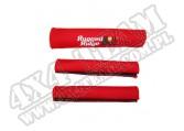 Zestaw nakładek rączek czerwony 87-95 Jeep Wrangler YJ