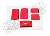 Zestaw nakładek rączek czerwony 07-10 Jeep Wrangler Unlimited JK