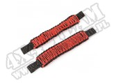 Czerwone uchwyty Paracord pod zagłówek, 07-17 Jeep Wrangler JK