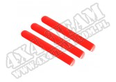 Wkładki klamek zewnętrznych, czerwone, 2 Dr; 07-16 Jeep Wrangler JK/JKU