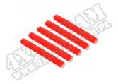 Wkładki klamek zewnętrznych, czerwone, 4 Dr; 07-16 Jeep Wrangler JKU