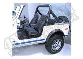 Fotel przedni typu High-Back nie rozkładany 76-02 Jeep CJ/Wrangler