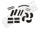 Zestaw piankowych uszczelek hardtopa; 11-18 Jeep Wrangler JK