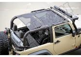 Osłona przeciwsłoneczna, czarna, 2-drzwiowy, 07-15 Jeep Wrangler JK