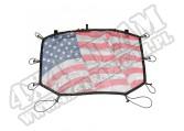 Daszek przeciwsłoneczny Eclipse, Przód, Amerykańska flaga; 07-16 Jeep Wrangler JK