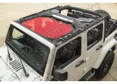Daszek przeciwsłoneczny Eclipse, Przód, Red; 07-15 Jeep Wrangler JK