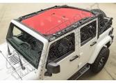 Daszek przeciwsłoneczny Eclipse, Red; 07-15 Jeep Wrangler Unlimited JK, 4-Dr.