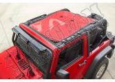 Daszek przeciwsłoneczny Eclipse, Red; 07-15 Jeep Wrangler JK, 2-Dr.