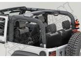 Osłona pałąków, czarny polyester, 07-15 Jeep Wrangler (JK)