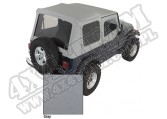 Miękki dach Z poszyciem drzwi charcoal 88-95 Jeep Wrangler YJ