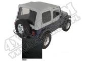 Miękki dach Z poszyciem drzwi black denim 88-95 Jeep Wrangler YJ