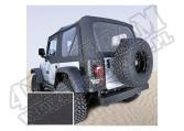 Miękki dach Z poszyciem drzwi black denim 97-02 Jeep Wrangler TJ