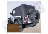 Miękki dach Z poszyciem drzwi dark tan 97-02 Jeep Wrangler TJ