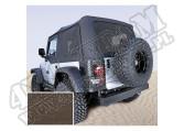 Miękki dach Z poszyciem drzwi khaki diamond 03-06 Jeep Wrangler TJ