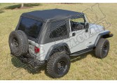 Miękki dach, czarny, 97-06 Jeep Wrangler (TJ)