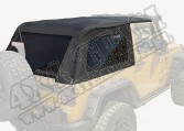 Plandeka bezstelażowa Bowless Top, Black Diamond; 07-15 Jeep Wrangler JK, 2-drzwi
