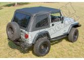 Miękki dach XHD, czarny, 97-06 Jeep Wrangler (TJ)