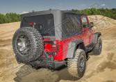 Poszycie plandeki Montana Top, Black Diamond, z drzwiami, przyciemniane okna; 04-06 Jeep Wrangler Unlimited LJ