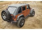 Bestelażowa plandeka Montana Top, Black Diamond, 4-Dr, 07-17 Jeep Wrangler JKU