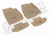 Zestaw dywaników, jasny brąz (tan), 07-13  Jeep Wrangler (JK)