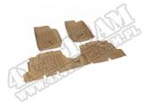Zestaw dywaników, jasny brąz (tan), 07-15 Jeep Wrangler (JK) 4 drzw.