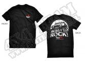 "Koszulka Rugged Ridge ze sloganem ""Ready to Rock"" czarna"