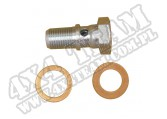 Śruba mocująca przewód hamulcowy/podkładki pompa 41-71 Willys/Jeep