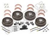 Zestaw regeneracyjny bębnów hamulcowych 48-63 Willys/Jeep