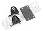 Zestaw poduszek mocowania silnika i skrzyni biegów, 4.0L, Manual; 97-06 Jeep Wrangler TJ/LJ