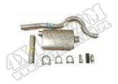 Muffler, Tailpipe Kit, 81-86 Jeep CJ8 (Scrambler)