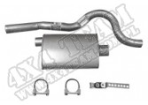 Muffler, Tailpipe Kit, 76-81 Jeep CJ Models