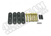Suspension Leaf Spring Shackle Kit, Heavy Duty; 55-75 Jeep CJ