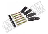 Suspension Leaf Spring Shackle Kit, Front, 1 Inch Lift; 87-95 Wrangler