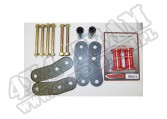 Suspension Leaf Spring Shackle Kit, Rear, 1 Inch Lift, HD; 87-95 YJ