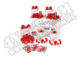Suspension Bushing Kit, Polyurethane, Red; 76-79 Jeep CJ5/CJ7