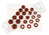 Body Mount Kit, Red, 22 Pieces; 80-86 Jeep CJ7