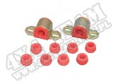 Suspension Stabilizer Bar Bushing Kit, Front, Red, 7/8 Inch; 76-86 CJ