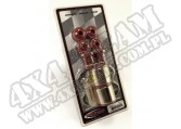 Suspension Stabilizer Bar Bushing Kit, Front, Red, 1-1/8 In; 84-01 XJ